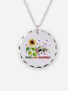 Peace Love Vegetables Necklace
