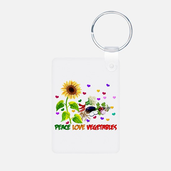 Peace Love Vegetables Keychains