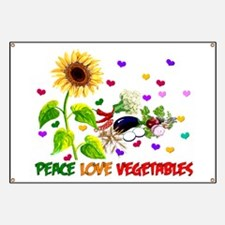 Peace Love Vegetables Banner