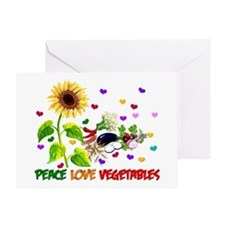 Peace Love Vegetables Greeting Card