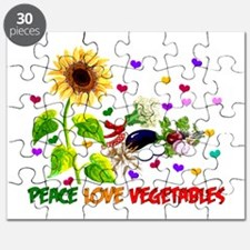Peace Love Vegetables Puzzle