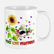 Peace Love Vegetables Mug
