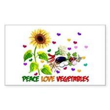 Peace Love Vegetables Decal