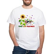 Peace Love Vegetables Shirt