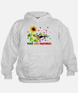 Peace Love Vegetables Hoodie