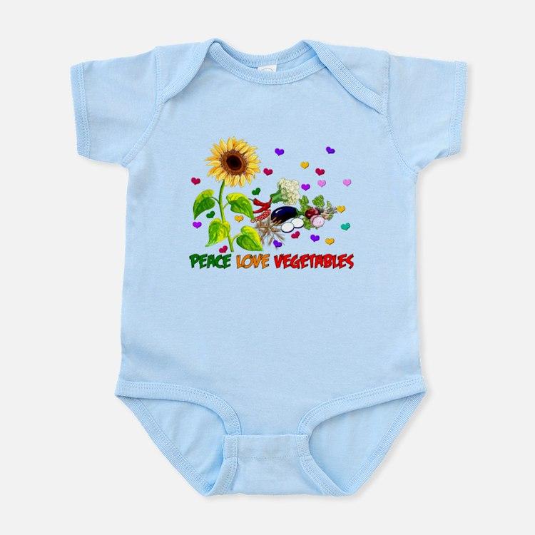 Peace Love Vegetables Infant Bodysuit