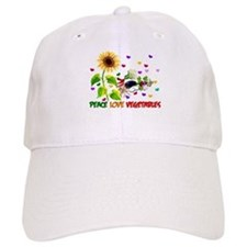 Peace Love Vegetables Baseball Cap