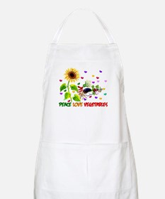 Peace Love Vegetables Apron