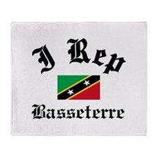 I rep Basseterre Throw Blanket