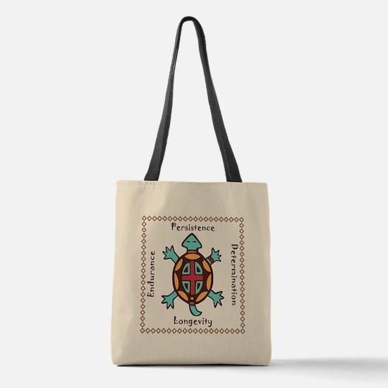 Turtle animal spirit Polyester Tote Bag