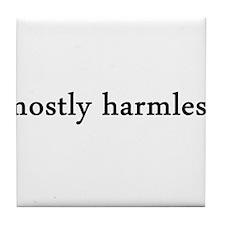mostly harmless Tile Coaster