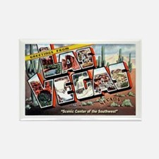 Las Vegas Nevada Greetings Rectangle Magnet
