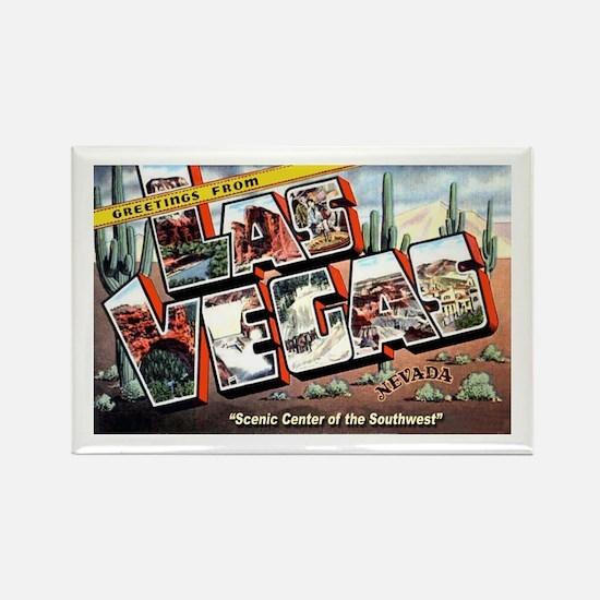 Las Vegas Nevada Greetings Rectangle Magnet