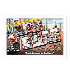 Las Vegas Nevada Greetings Postcards (Package of 8