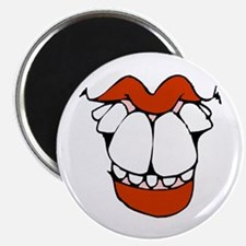 """toothy smile 1 transparent.png 2.25"""" Magnet (10 pa"""