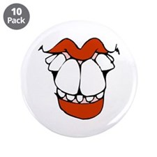 """toothy smile 1 transparent.png 3.5"""" Button (10 pac"""
