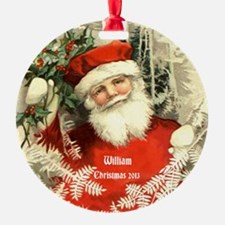 Personalized Vintage Santa Christmas Ornament