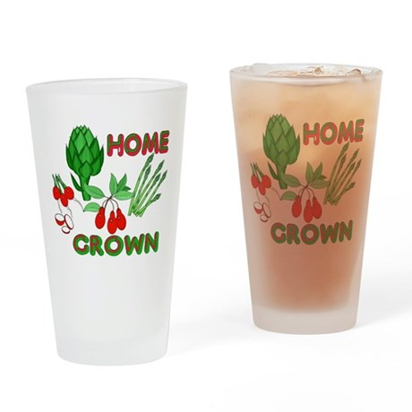 Home Grown Drinking Glass