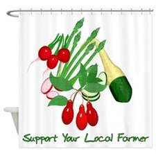 Support Your Local Farmer Shower Curtain