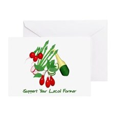 Support Your Local Farmer Greeting Card