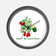 Support Your Local Farmer Wall Clock