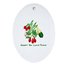 Support Your Local Farmer Ornament (Oval)