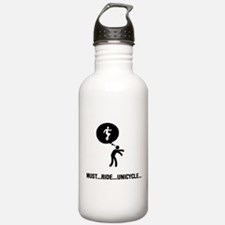 Unicycle Rider Water Bottle