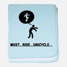 Unicycle Rider baby blanket