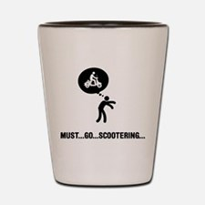 Scooter Riding Shot Glass