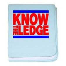 KNOW THE LEDGE baby blanket