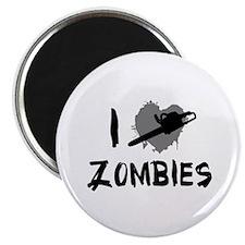 I Love Killing Zombies Magnet