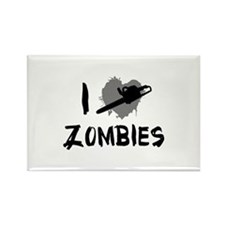 I Love Killing Zombies Rectangle Magnet
