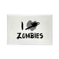 I Love Killing Zombies Rectangle Magnet (100 pack)