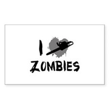 I Love Killing Zombies Decal