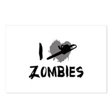 I Love Killing Zombies Postcards (Package of 8)