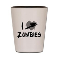 I Love Killing Zombies Shot Glass