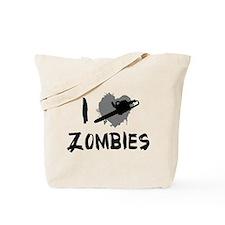 I Love Killing Zombies Tote Bag