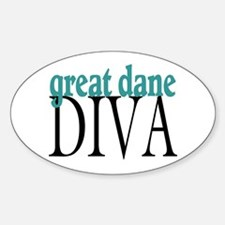 Great Dane Diva Oval Decal