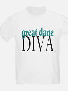 Great Dane Diva Kids T-Shirt