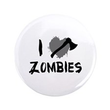 "I Love Killing Zombies 3.5"" Button"