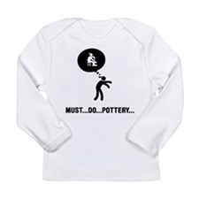 Pottery Long Sleeve Infant T-Shirt