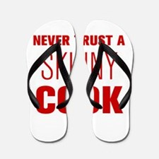 never-trust-a-skinny-cook-AKZ-BROWN Flip Flops