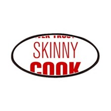 never-trust-a-skinny-cook-AKZ-BROWN Patches