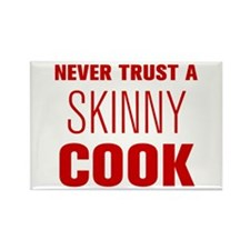 never-trust-a-skinny-cook-AKZ-BROWN Rectangle Magn