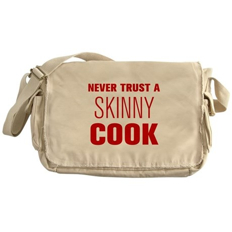 never-trust-a-skinny-cook-AKZ-BROWN Messenger Bag