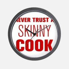 never-trust-a-skinny-cook-AKZ-BROWN Wall Clock