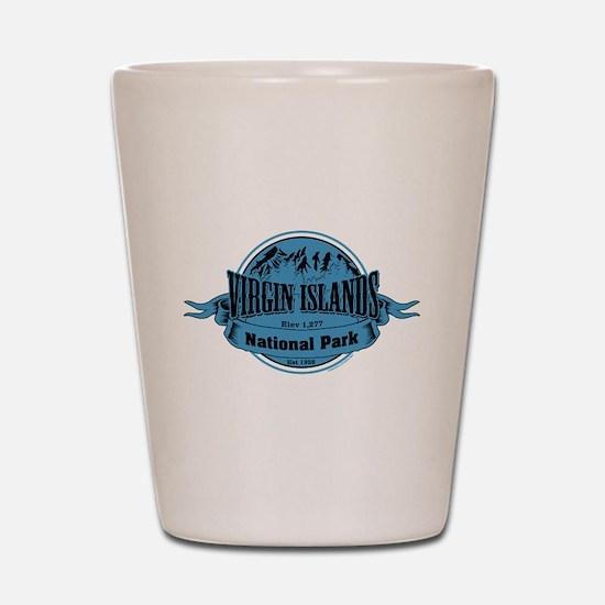 virgin islands 2 Shot Glass