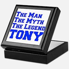 man-myth-legend-tony-fresh-blue Keepsake Box
