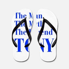 man-myth-legend-tony-bod-blue Flip Flops