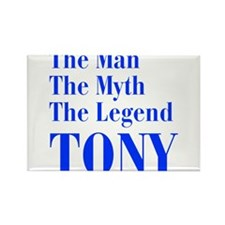 man-myth-legend-tony-bod-blue Rectangle Magnet